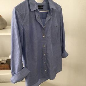 Beautiful collared blue button down shirt